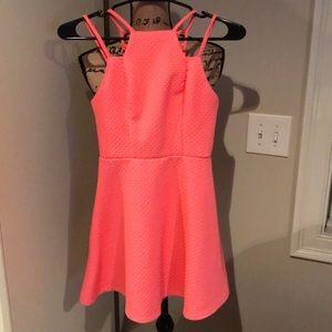 Juniors hot pink dress 👗 size XS! Worn once!